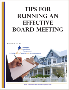 Tips for running an effective board meeting